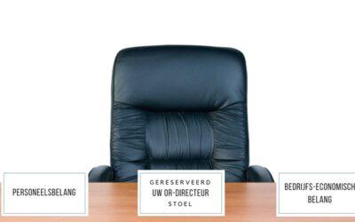 De ondernemingsraad op de stoel van de directeur