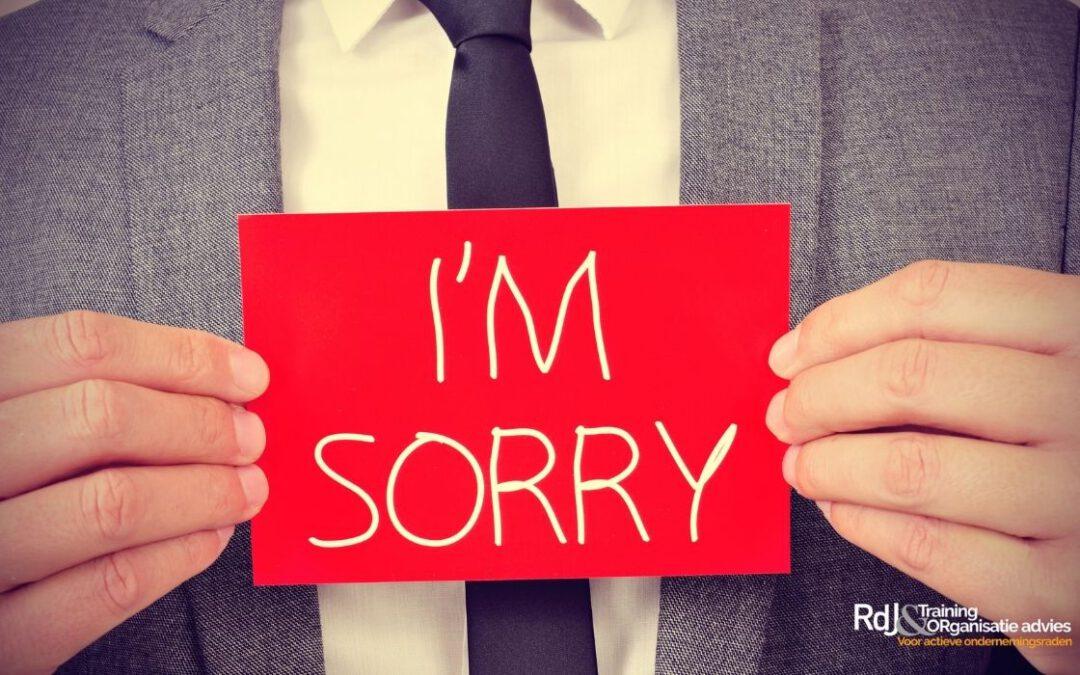 Oprechte excuses van de bestuurder aan je ondernemingsraad?